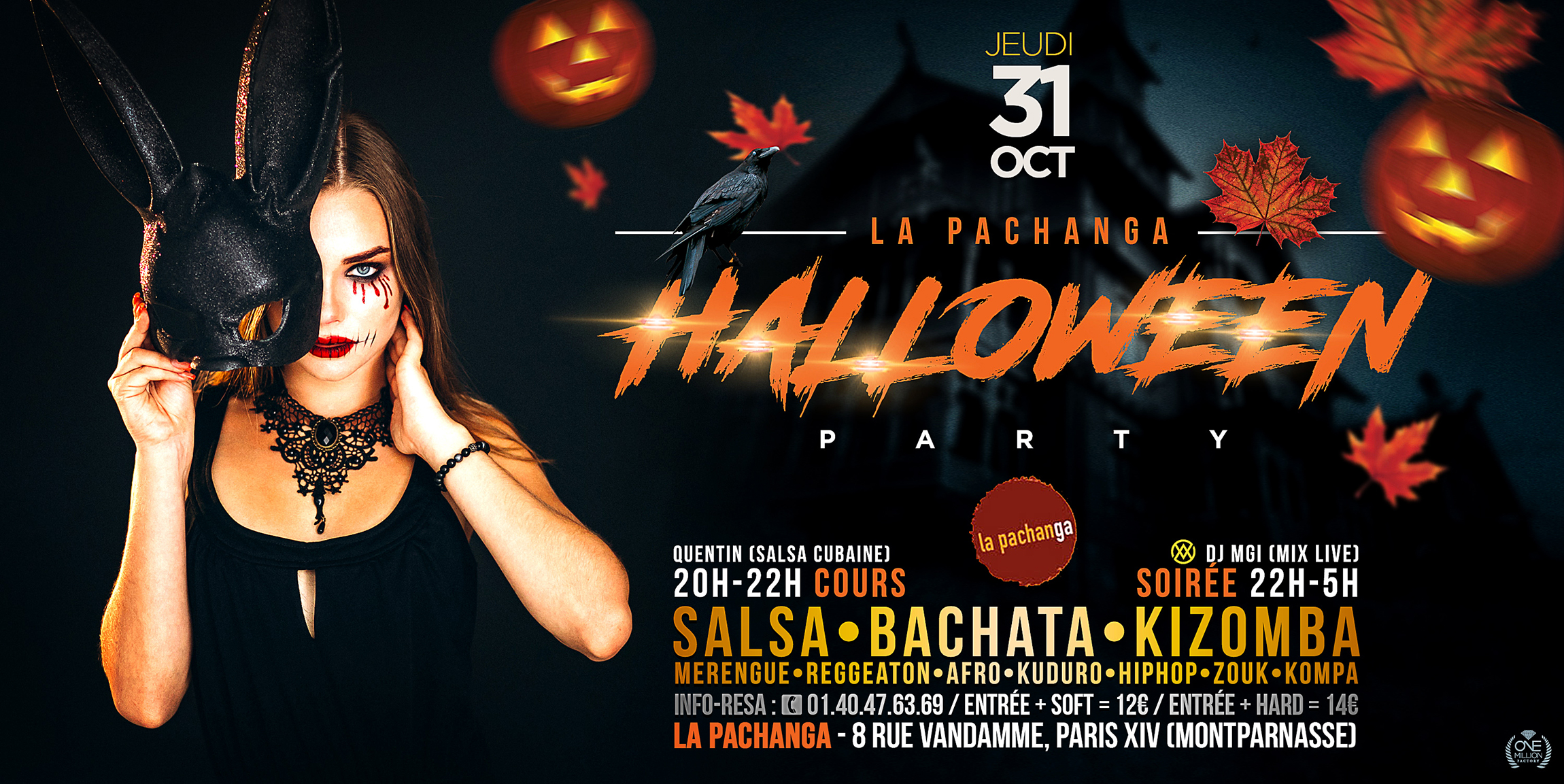 Halloween Party Pachanga 2019 - Paris Montparnasse