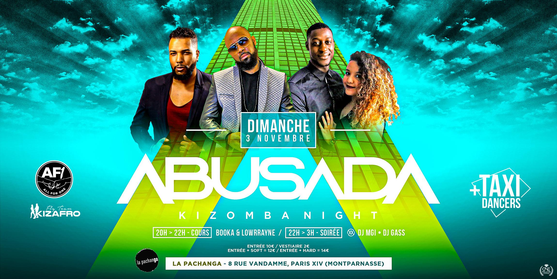 ABUSADA Kizomba Night Paris - Pachanga - Dimanche 3 Novembre 2019